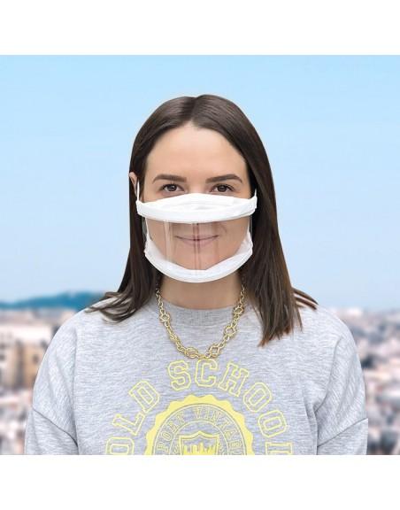 masques transparents adulte - 10 lavages