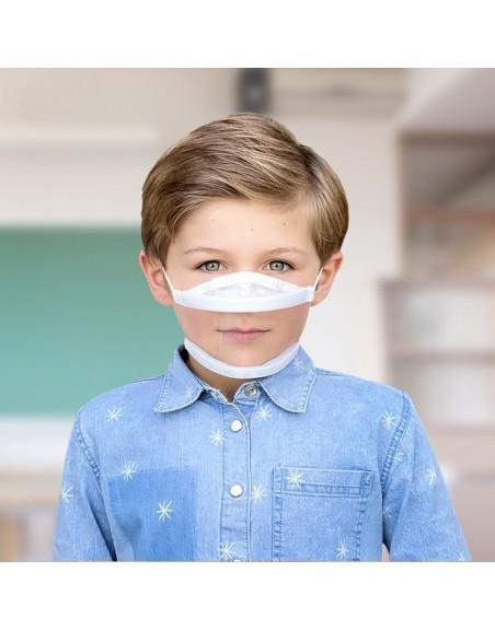 10 masques transparents enfant - 10 lavages