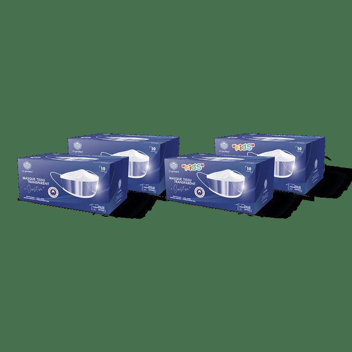 Family pack masque transparent