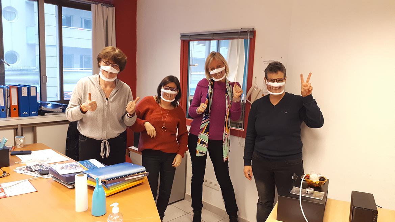 Témoignage masque transparent